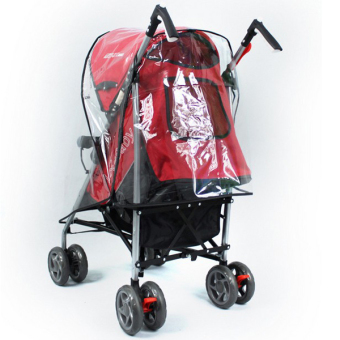 Universal Pushchair Stroller Pram Buggy Transparent Rainproof CoverRain Shade - 4