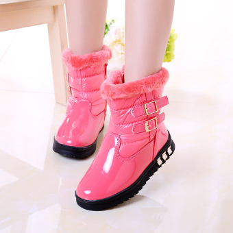 Waterproof platform non-slip children's snow boots cotton boots