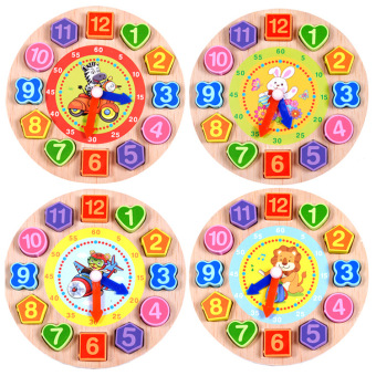 Harga Wooden digital clock with more than grasping puzzle beaded puzzle