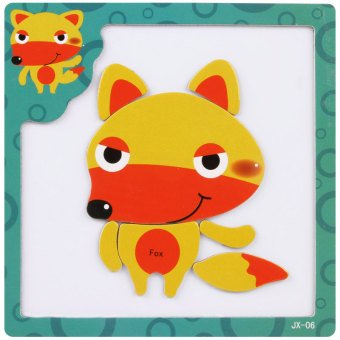 Wooden magnetic dimensional jigsaw puzzle wooden children animaltraffic puzzle force puzzle early childhood toys children's gift