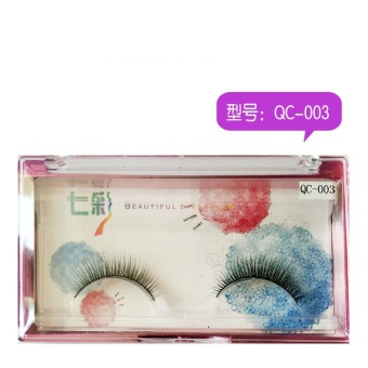 1Pairs Long False Eyelashes Makeup Natural Fake Thick Black EyeLashes - intl