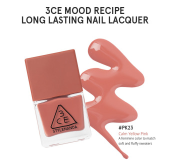 Harga 3CE MOOD RECIPE LONG LASTING NAIL LACQUER #PK23