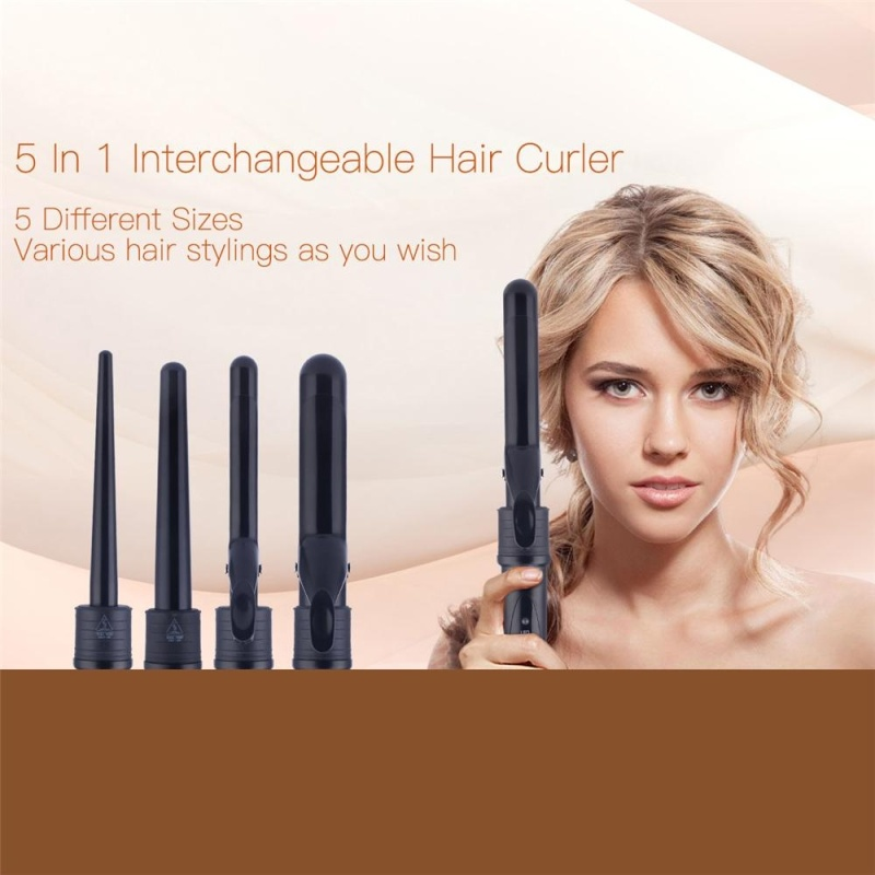 Buy 5 in 1 Multifunctional Interchangeable Tourmaline Ceramic Hair Curling Iron Hair Curler Set Curling Tong Curling Wand Hair Styling Tool Beauty Tool - intl Singapore