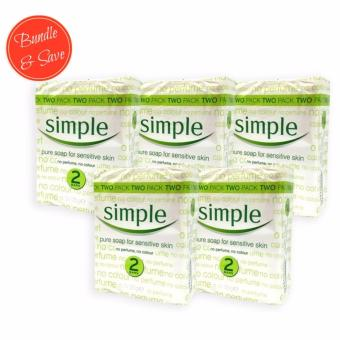 [5 SETS] Simple Sensitive Skin Pure Soap 125g x 2