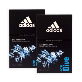 Harga Adidas MEN EDT - Ice Dive EDT Perfume 100ml x 2 bottles - 7498