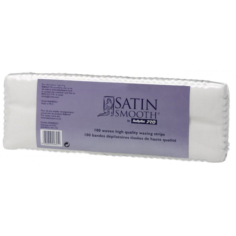 Buy Babyliss Pro Satin Smooth Non-Woven Waxing Strips - Pack of 100 Singapore