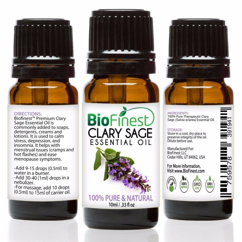 Buy Biofinest Clary Sage Essential Oil (100% Pure Therapeutic Grade) 10ml Singapore