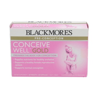 Harga Blackmores Conceive Well Gold 56's (2 X 28's)