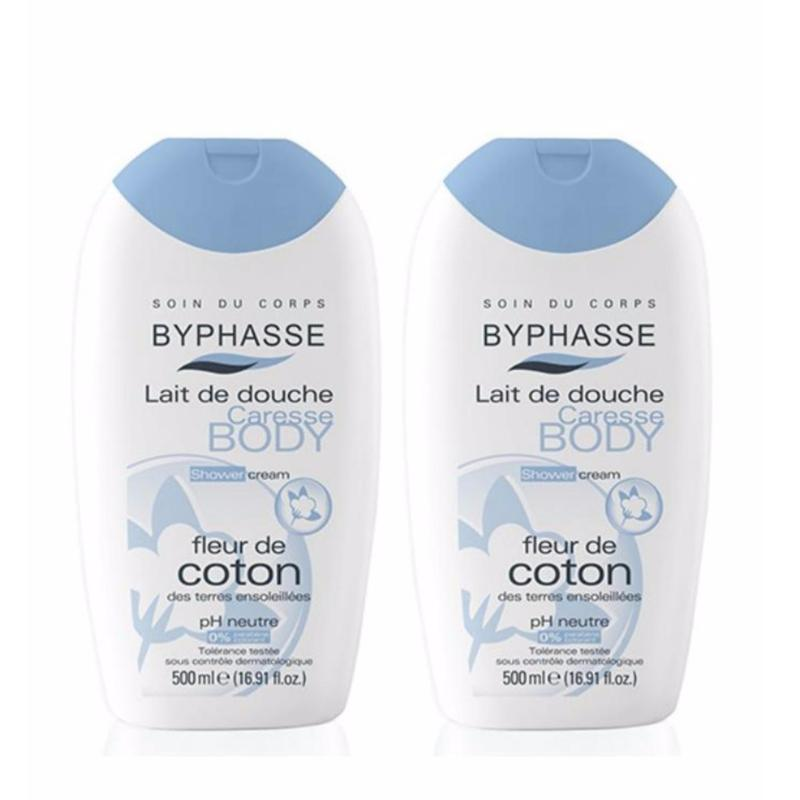 Buy BYPHASSE CREAM SHOWER COTTON EXTRACT 500ML x2 bottles Singapore