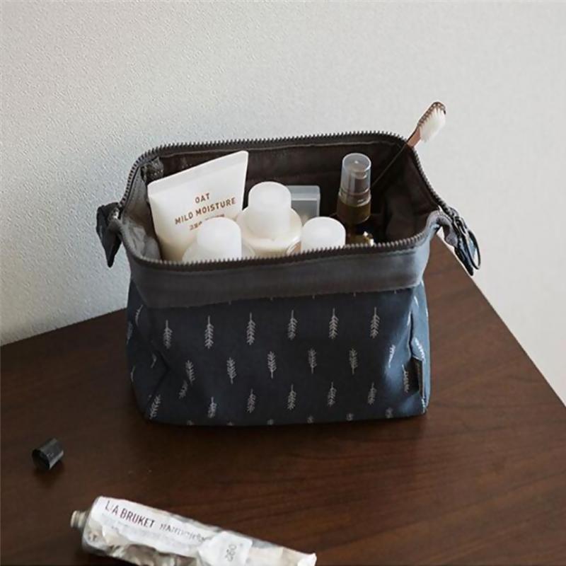 Buy Canvas travel portable cosmetic storage bag makeup bag Singapore