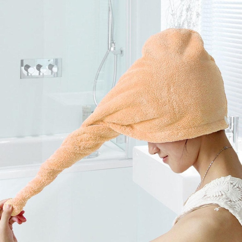 Buy Cyber Big Discount Strong Water Absorbing Microfiber Wrap Dry Hair Hat Cap Towel( Yellow ) - intl Singapore