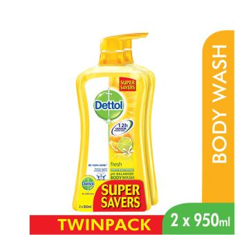 Dettol Body Wash Fresh P&P 950Ml x 2