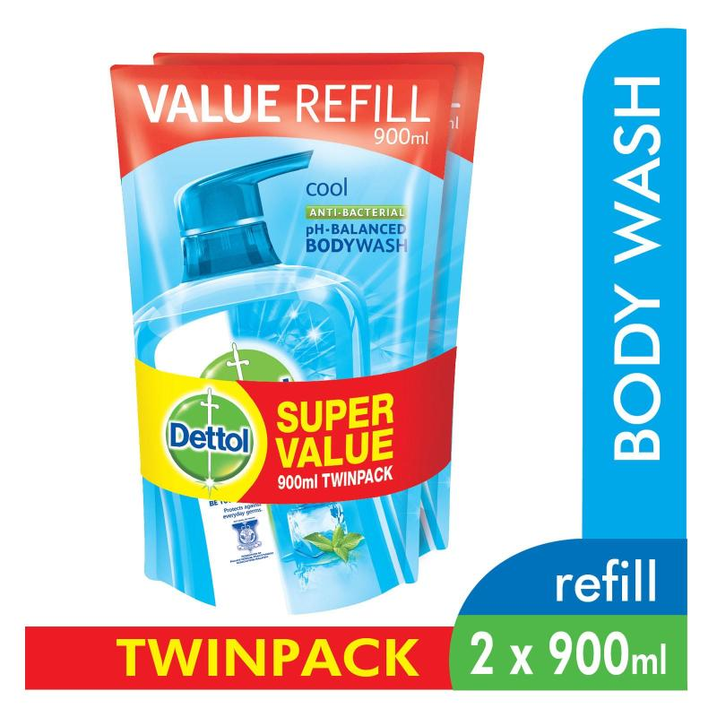Buy Dettol Body Wash Pouch Cool 900Ml Twin Pack Singapore