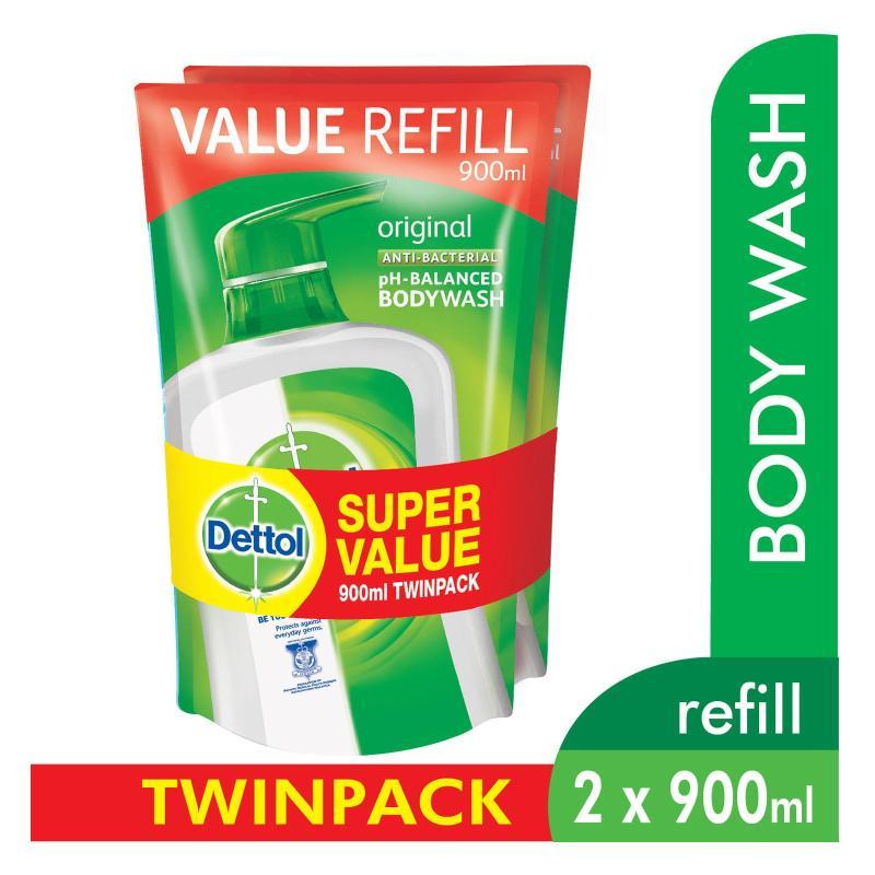 Buy Dettol Body Wash Pouch Original 900Ml Twin Pack Singapore