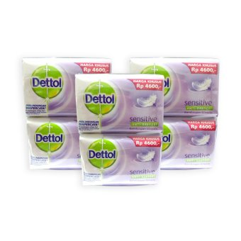 Dettol Sensitive Antiseptic Body Soap 110g 4 bars x 3 packs - 5069