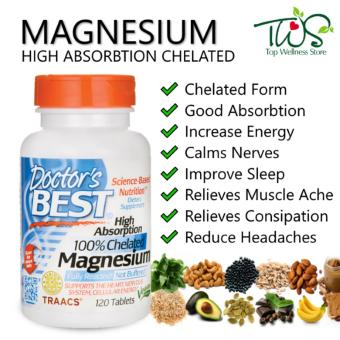 Doctors Best Magnesium High Absorption 100% Chelated 120 Tablets