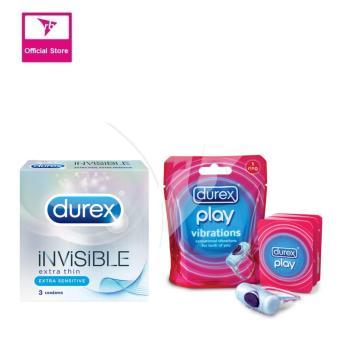 Durex Invisible Extra Sensitive 3'S & Durex Play Vibrations 1 Ring
