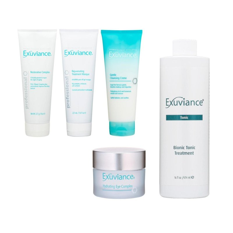 Buy Exuviance Cleansing Cream+Masque+Restorative Complex+Tonic Treatment+Eye Complex - intl Singapore