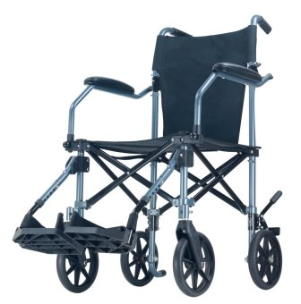 Falcon Travel Lite Transport Wheelchair in a Bag (Black)