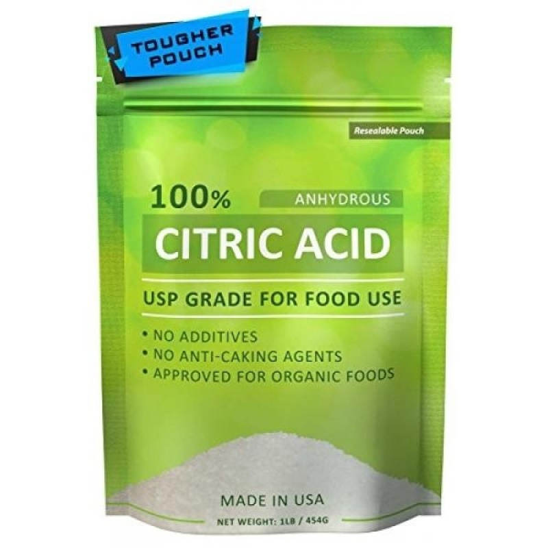 Buy GPL/ Citric Acid 1 lb Pure for Bath Bombs Kosher Resealable Pouch USA Made Approved for Organic Foods USP Grade/ship from USA - intl Singapore