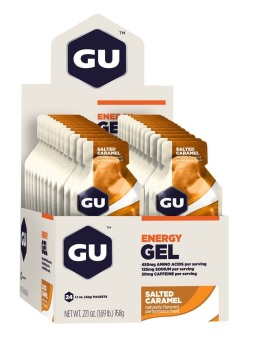 GU Energy Gel Salted Caramel 24 Pack With Free Gift