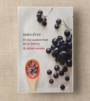 Harga Innisfree Real Squeeze Mask x 2 (Acai Berry)
