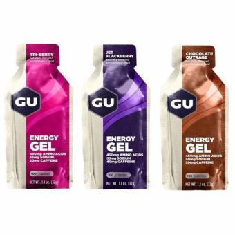 Harga GU Energy Gel Flavor Mix 24 Pack With Free Gift