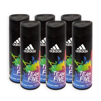 Harga Adidas MEN Body Spray - Team Five Special Edition 24h Deodorant Spray 150ml x 6 Bottles