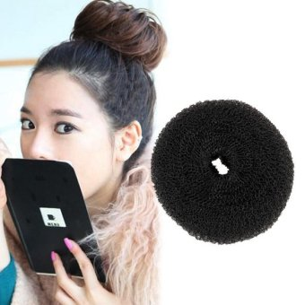 Harga Lady Hair Styling Tool 1x Soft Magic Black Bun Sponge Donut Shape Hair Styler (Intl)