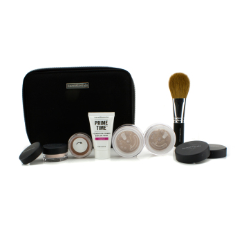 Harga Bare Escentuals BareMinerals Get Started Complexion Kit For Flawless Skin - # Medium Beige 6pcs+1clutch