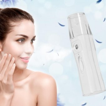 1Pc USB Rechargeable Nano Water Mist Sprayer Atomiser Facial Steamer Skin Care Spa Humidifier - intl