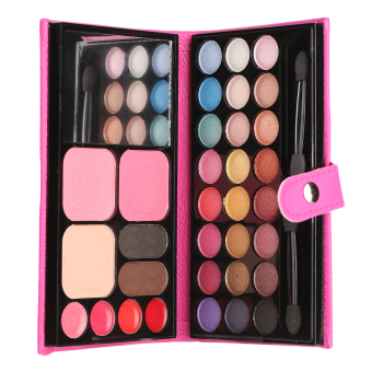 Harga Allwin Good Quality Leather 33 Color Eyeshadow Palette Makeup Eye Shadow Box Set - intl