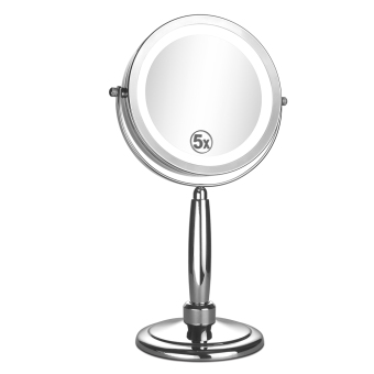 Harga ALHAKIN LED 7 inch Table Mirror Doubleside 1X/5X Magnification