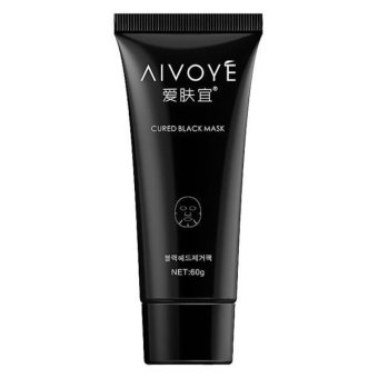 AFY Deep Cleansing Peel Off Black Mud Facial Face Mask Remove Blackhead Black - intl