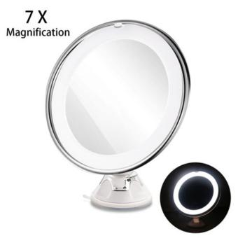 Harga Ajusen 7X Magnification magnifying Mirror Sucker Makeup Mirror With LED Light USB Charging Cosmetic Magnify Mirror - intl