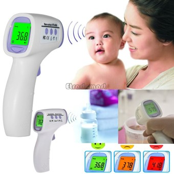 Harga HTD8808 Non Contact Infrared Body Thermometer / Temperature Measurement (White)