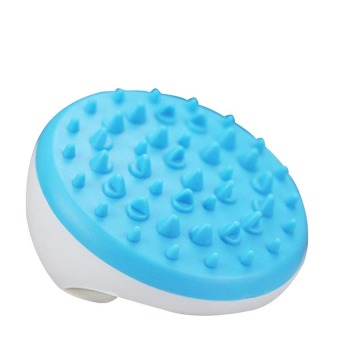 Harga Anti-Cellulite Slimming Soft Body Massage Glove Brush Scrub Bath Massager-Blue