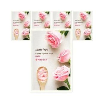Harga Innisfree Its Real Squeeze Mask - Rose 5pcs