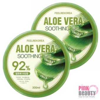 Harga [BUNDLE DEAL] 2 Feelrekorea SOOTHING GEL Aloe Vera + Aloe Vera (300g)