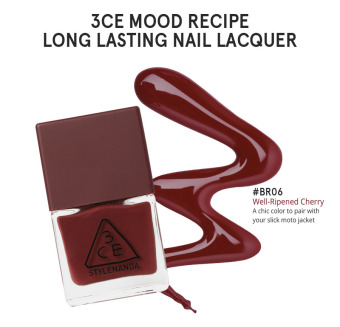 Harga 3CE MOOD RECIPE LONG LASTING NAIL LACQUER #BR06