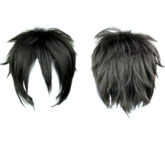 Harga Men's Black Short Wig For Masquerade Party Cosplay Costume