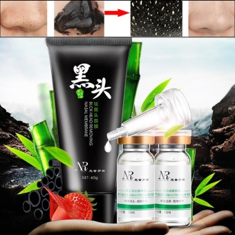 Harga NR Deep Cleansing Peel Off Black Mud Facial Mask Remove Blackhead Three Steps - intl