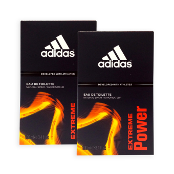 Harga Adidas MEN EDT - Extreme Power EDT Perfume 100ml x 2 bottles - 2385