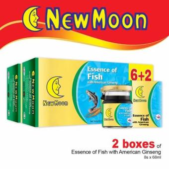 Harga New Moon Essence of Fish with American Ginseng (6+2 bottles) x 68ml x 2 Boxes