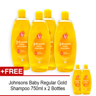 Harga Johnsons Baby Regular Gold Shampoo 750ml x 4 with FREE 2 Bottles - 5189