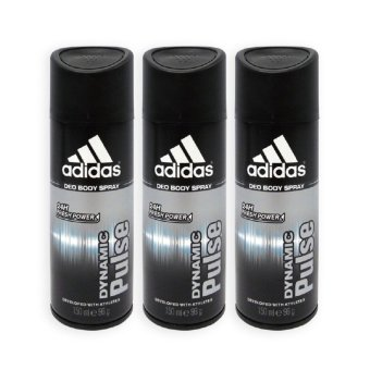 Harga Adidas MEN Body Spray - Dynamic Pulse 24h Deodorant Spray 150ml x 3 Bottles