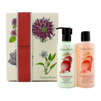 Harga Crabtree & Evelyn Pomegranate, Argan Grapeseed Perfect Pair: Bath Shower Gel 250ml + Body Lotion 250ml 2pcs