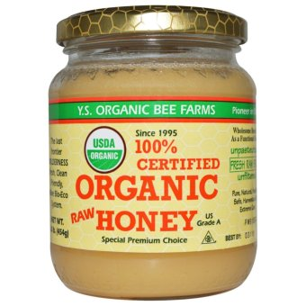 Harga Y.S. Eco Bee Farms 100% Certified Organic Raw Honey 1.0 lb (454 g)