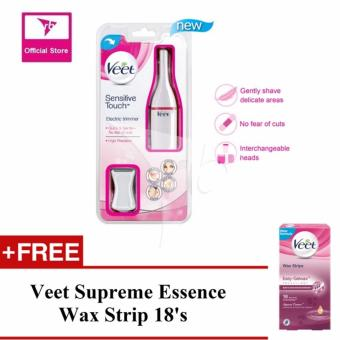 Harga Veet Sensitive Touch Electric Trimmer + 1 Free Veet Wax Strip 18'S