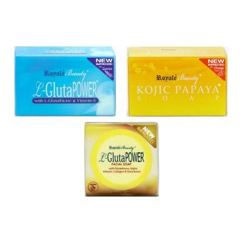 Harga Royale L-Gluta Power Soap, L-Gluta Anti-ageing Soap, and Kojic Papaya Soap